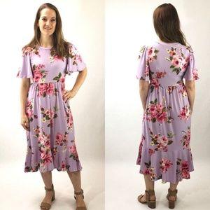 NEW Melanie Floral Dress - Lilac